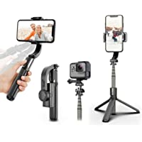 eller santé © Gimbal Stabilizer 1-Axis Multifunction Remote 360 ° Automatic Rotation Extendable Bluetooth Auto Balance…
