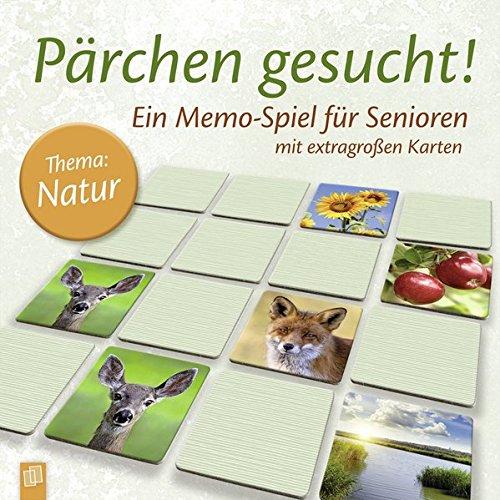 """Pärchen gesucht - Thema """"Natur"""": Ein Memo-Spiel für Senioren mit extragroßen Karten"""