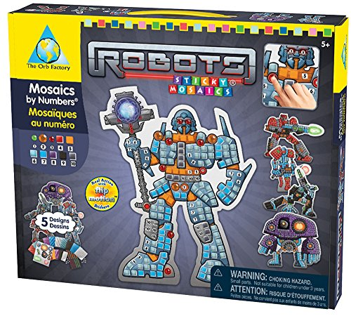 The Orb Factory Sticky Mosaics Robots Craft Kit