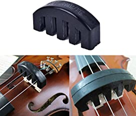 AST Works 1Pc Violin Practice Mute Heavy Black Rubber Violin Silencer Acoustic Electric &