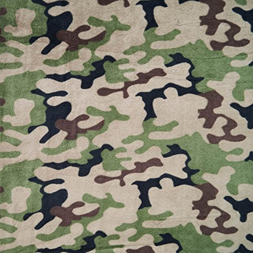 Jack - Camouflage Fleece Stoff mit 4-Farben-Tarnmuster - Polar Fleece / Microfleece - Anti Pilling (per Meter) -