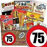 75 Geburtstag Geschenk DDR - Süssigkeiten Box mit DDR Waren + Geschenkverpackung
