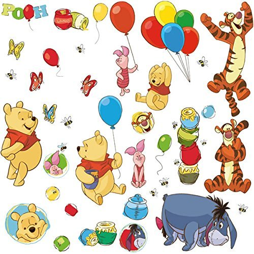 RoomMates RMK1498SCS RM - DISNEY Winnie Puuh und Freunde Wandtattoo, bunt, 29 x 13 x 2.5 cm - Disney Kinder, Tapete, Mädchen,