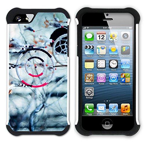 Graphic4You Traumfänger Indisch Einheimisch Hart + Weiche Kratzfeste Hülle Case Schale Tasche Schutzhülle für Apple iPhone SE / 5 / 5S Design #12
