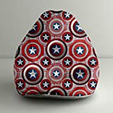 "Orka Disney ""Captain America Shield"" Digital Printed Bean Bag Small Filled With Beans - Multicolor"