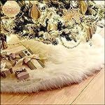 Arpoador, copri base per albero di Natale, di peluche, bianca, decorazione natalizia, 78cm