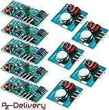 AZDelivery 5 x 433 MHz Funk - Sende und Empfänger Modul Set für Raspberry und Arduino Wireless Transmitter Receiver mit gratis eBook!