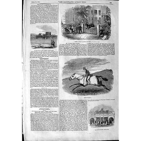 Cavallo da Corsa 1844 che Prepara Newmarket Whitehall Informato