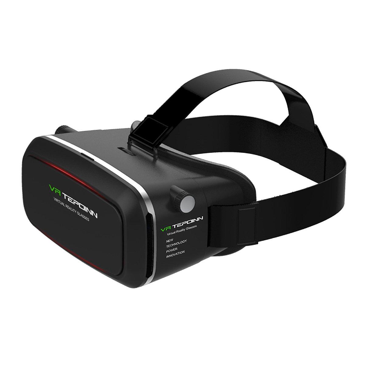 Tepoinn Casque Lunette VR 3D Réalité Virtuelle Lunette Virtuelle Le Plus Léger 3D Films Compatible avec Tous Les Smartphones Dont l'écran est DE 4,0 à 5,7 Pouces