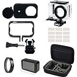 Allnatt 6 in 1 kit Accessori Custodia impermeabile, telaio, custodia in silicone + copriobiettivo, filtro UV, inserti…