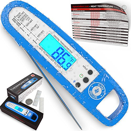 Instant Read Thermometer With Backlight For Meat