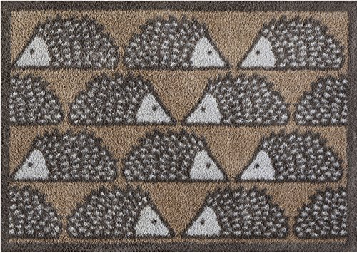 Turtle Mat Spike Hedgehog - Brown Scion Collection - Highly absorbent Indoor barrier mat with Multi-Grip backing 60x85cm 1