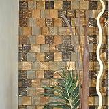 3D Wandverkleidung Wandfliesen I Contura Wood I Natürliches Gummibaum Holz Wandpaneele I Moderne Wanddekoration Wohnzimmer, Küche