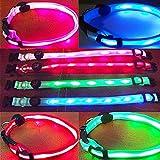 UC-Express LED Hundehalsband Blinkhalsband Leuchthalsband Leuchtschlauch Leuchtband Blinki, Farben:Grün