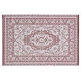 Loberon Wendeteppich Marsolan, Polypropylen, H/B ca. 180/120 cm, rot, hochwertige Qualität, Vintage-Stil