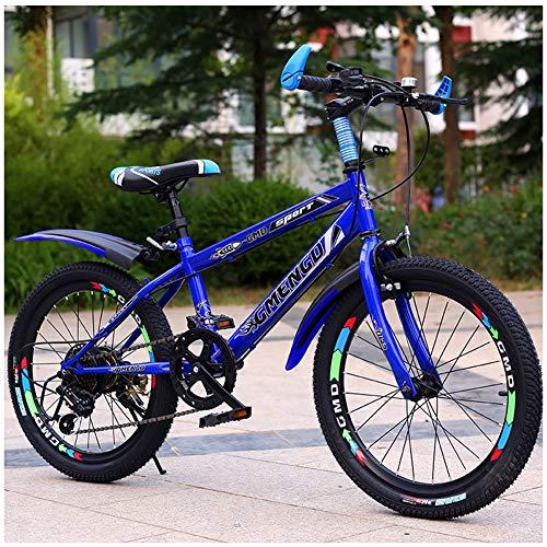 LJXWYQ Kinderfahrräder 20 Zoll 22 Zoll Fahrrad Jungen und Mädchen 6-16 Jahre alt, 24-Zoll-Erwachsenen Langlauf- Mountainbike mit dem Rücksitz, B,22inch