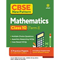 CBSE New Pattern Mathematics Class 10 for 2021-22 Exam (MCQs based book for Term 1)