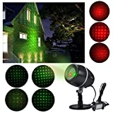 Stage Waterproof SpotLights ANTSIR Starry Projector Light with Red & Green for Outdoor&Indoor Garden Yard Wall Family Party KTV Wedding Night Club