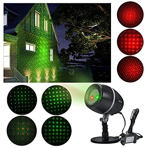 Stage Waterproof SpotLights ANTSIR Starry Projector Light with Red & Green for Outdoor&Indoor Garden Yard Wall Family Party KTV Wedding Night