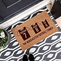 Personalised Football Family Coir Door Mat - Football Gifts for Family - House warming Gifts - Birthday Gift - Father day Gift