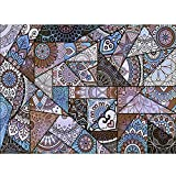 LJNYF Viola Moquette, Camera da Letto Soggiorno Moquette, Orientale Coperta di Zona, Tradizionale 3D Stampato Vintage di Stile Etnico Tappeti, per Camera Lavabile