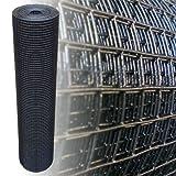 Voliera, rete metallica in acciaio zincato, 100 cm. 4 angoli, nera