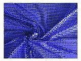 Fabrics-City ROYALBLAU HOCHWERTIG PAILETTEN STOFF PAILLETTENSTOFF 6MM STOFFE, 2435
