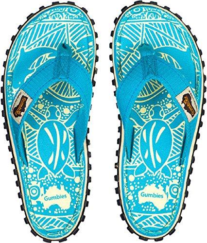 Flip-mädchen (Gumbies Mädchen Sandalen/Flip Flop 2203 in Türkis, Kleidergröße:34/35, Farbe:Türkis)