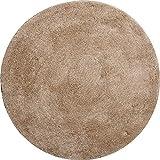 Grund Badteppich 32 mm 100% Polyacryl, Ultra Soft, Rutschfest, ÖKO-TE?-Zertifiziert, 5 Jahre Garantie, LEX, Badematte 100 cm rund, beige