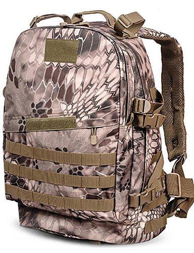 HWB/ 30 L Rucksack Camping & Wandern Draußen Wasserdicht Schwarz / Braun Nylon python mud color