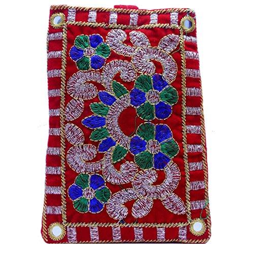 Bagaholics Ethnic Raw Silk Saree Clutch Mobile Pouch Waist Clip Ladies Purse...