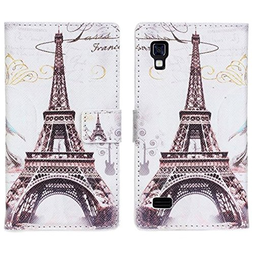 Paris Eiffel Tower Retro Vintage Luxury Wallet Leather Case Stand Cover For LG Optimus L9 P760 P765 P768