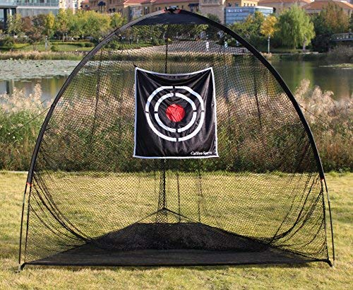 Galileo 8'x7'x7' golf Hitting Net/golf net/Tri-poled shape golf net/Practice Driving Indoor and Outdoor golf net/golf target/golf training aids with target