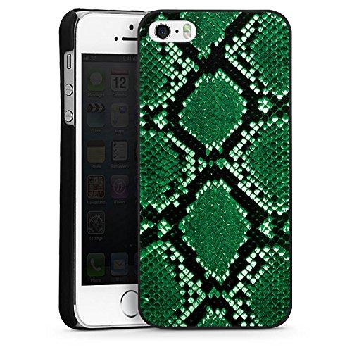 Apple iPhone 5 Housse Outdoor Étui militaire Coque Peau de serpent Look Serpent CasDur noir
