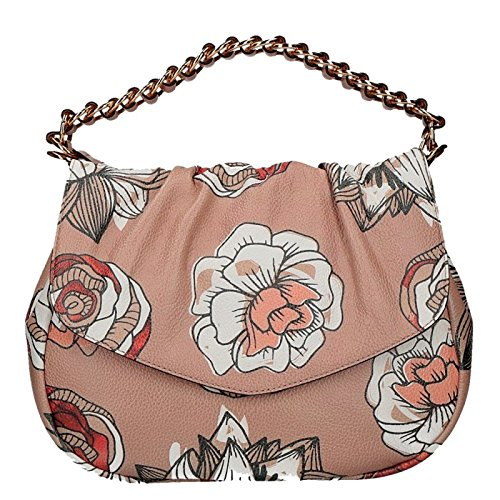 Coccinelle Julie hand bag large with floral prints with belt multicolor (Color Multi Print Floral)