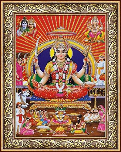 Avercart Goddess Santoshi / Santoshi Maa / Goddess of Sastisfaction Poster 5x7 inch (13x18 cm)