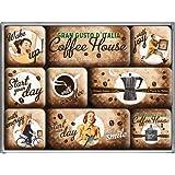 Nostalgic-Art 83058 Coffee und Chocolate House, Magnet-Set, 9-teilig