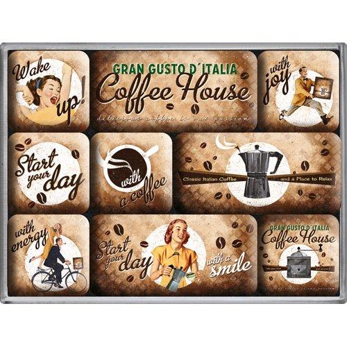 Nostalgic-Art 83058 Coffee & Chocolate - Coffee House, Magnet-Set (9teilig)