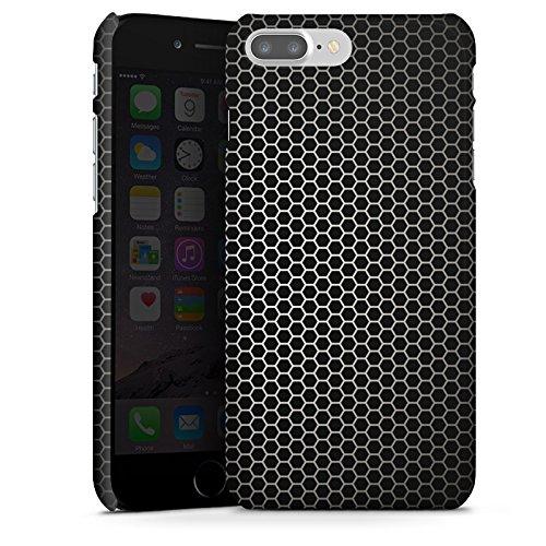 Apple iPhone X Silikon Hülle Case Schutzhülle Muster Schwarz Metal look Premium Case glänzend