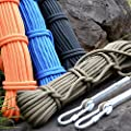 Dometool 18KN Auxiliary Climbing Rope Emergency Rescue Ropes Professional Mountaineering Rock Rope Diameter:12mm