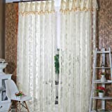 Best Home Fashion Sheer Curtains - Zibuyu Romantic Door Window Sheer Curtain Drape Panel Review