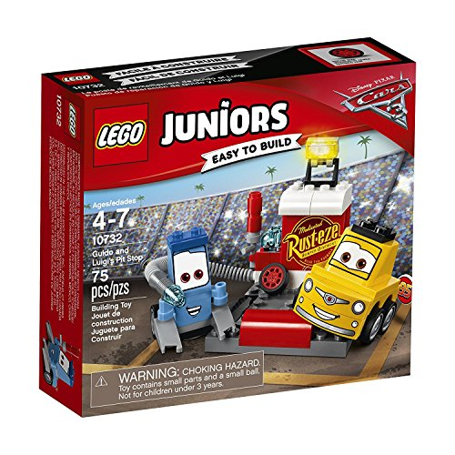 LEGO Juniors 10732 - Guido und Luigis Pit Stopp, Kinderspielzeug (Cars Lego-sets Disney)
