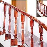 Bébé Infantile Filet protection Balcon Protection de Sécurité Durable Clôture Stairway Balustrade en Maille Résistant Réglable ( 3m gris)