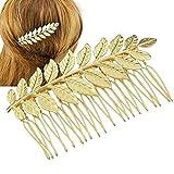 Cdet Horquilla pelo peines hojas accesorio para el pelo boda novia prom partido para las niñas,Dorado