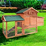 Hühnerstall Geflügel-Stall Hühnerhaus Hühner-Farm Hasenstall Kaninchenstall Kaninchen-Käfig Hasen-Käfig Kleintier-Stall Freilauf Kleintierkäfig Hühner-Stall 147x52x85cm