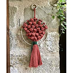 Tapiz pequeño de macramé (wall hanging) artesanal