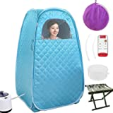 AY Portable Steam Sauna Spa, Foldable 2.6L Thicken Personal Therapeutic Sauna for Weight Loss Detox Relaxation at Home…