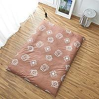 hxxxy Funda de colchón Tatami,Algodón Colchón [a Prueba de Polvo] Cama Falda Estera de meditación Cubierta Completa Colcha-A 150x200cm(59x79inch)