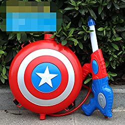 Stylehome Mochila Water Gun Blaster con Water Gun Beach Toy y Outdoor Sports Toy Captain America