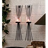 Tied Ribbons Wall Sconce Pack of 2 (Metal)
